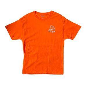 No Bad Days - Orange Champion Short Sleeve Tee - M